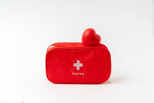 First aid kit from the top view