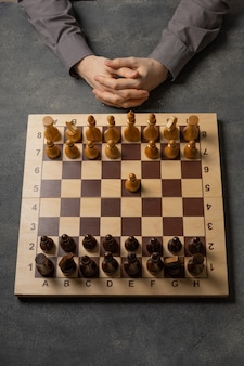 The first pawn move in a chess game