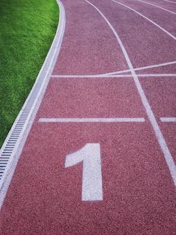 First running track in stadium