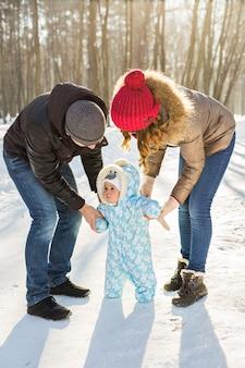 ウィンターパークでの赤ちゃんの最初のステップ。
