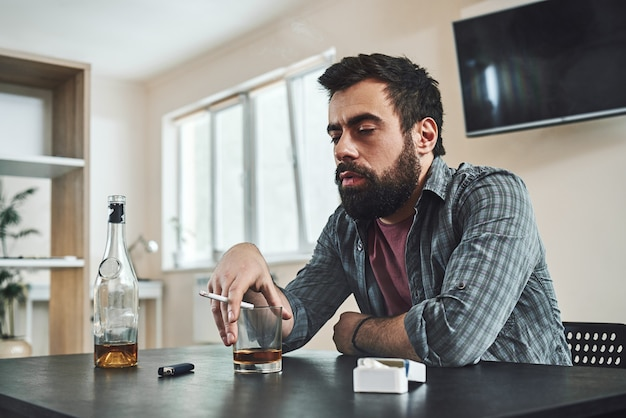 The first thing in the human personality that dissolves in alcohol is dignity alcohol abuse