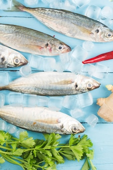 Fish mackerel,Œraw mackerel with and spices