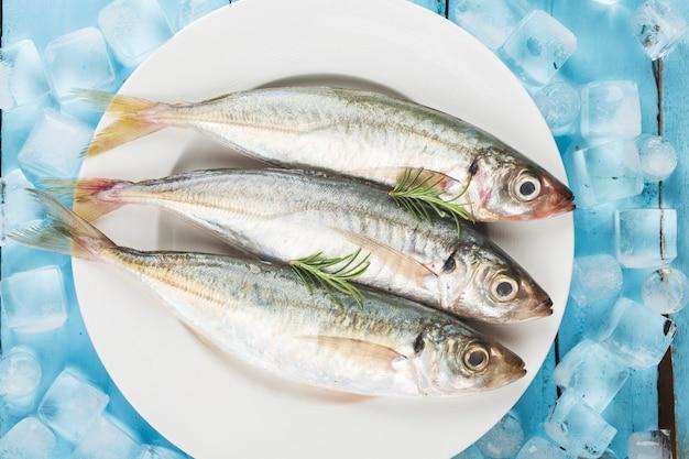 Fish mackerel,raw mackerel with and spices