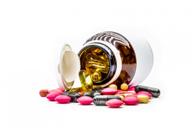 Fish oil,cod liver oil omega 3 capsules.