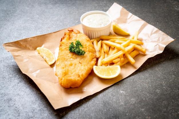 フライドポテトと魚