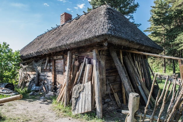 Fisherman s house, old wooden hous