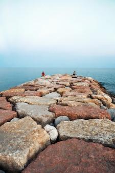 Fishermen family fishing