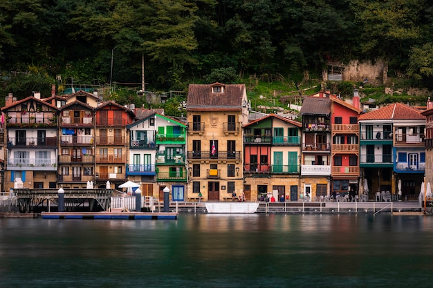 Fishermen town of pasaia at the basque country.