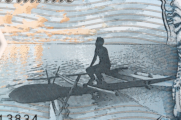 Fishing boat from cook islands money