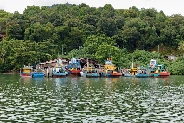 Fishing boat, pangkor island, malaysia