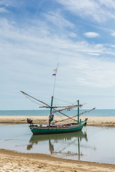 Fishing boats and coastal beaches in the south