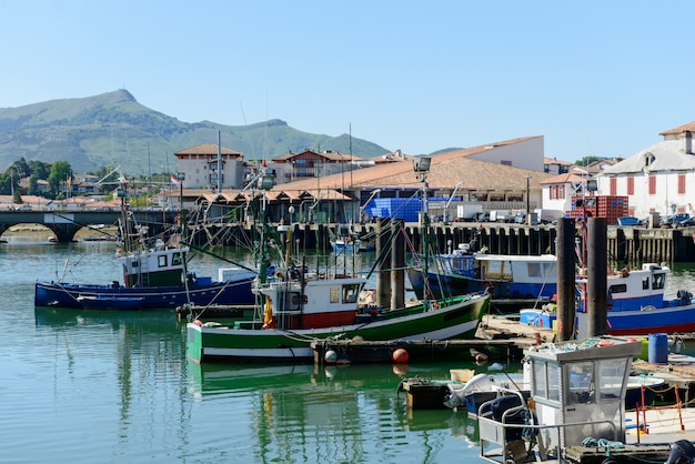 Fishing boats in the port of saint jean de luz