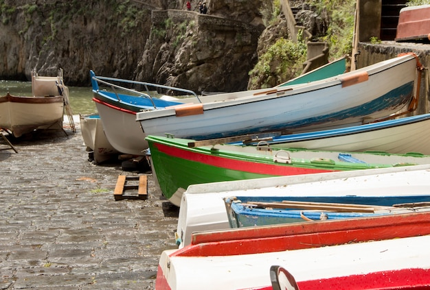 Fishing boats in south italy