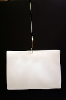 Fishing hook with wire and card