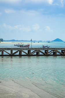 The fishing pier on the island.
