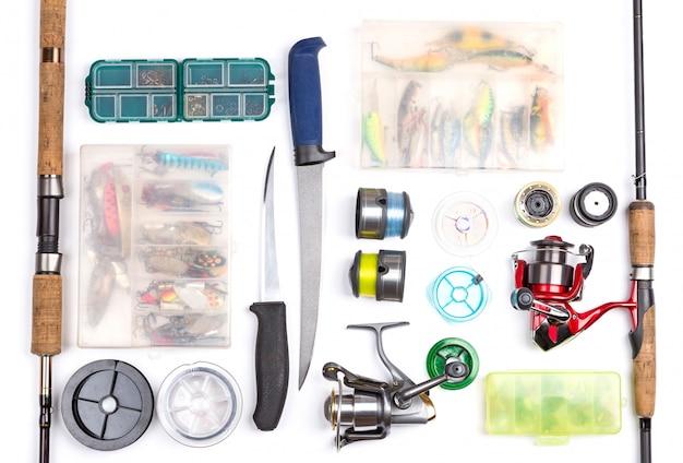 釣り道具と白のツール