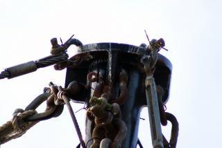 Fishing vessel rigging  wharf