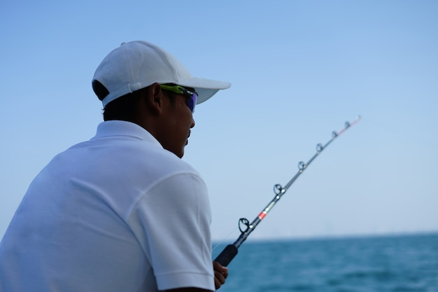 Fishing on the yachi is a recreation activity