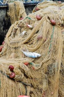 Fishnet on fishing boat