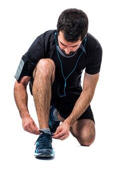 Fit sportswear muscle body tying