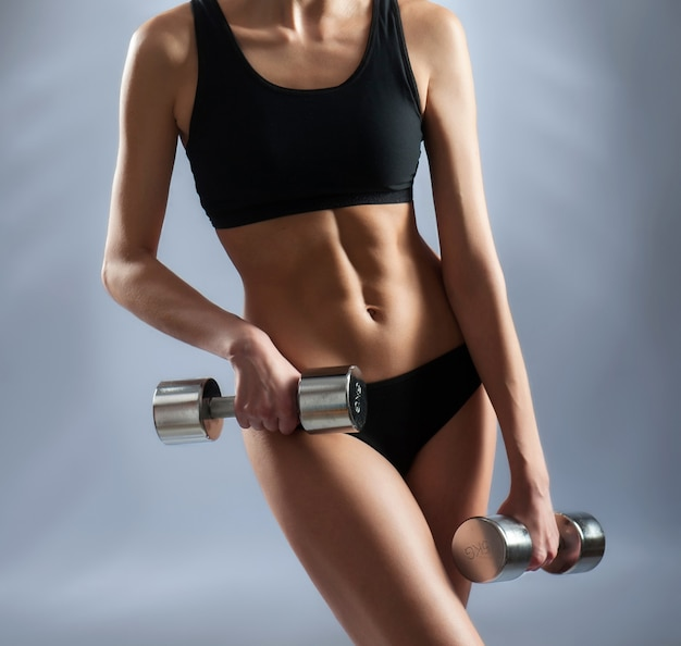 Fit and toned body of a sporty woman