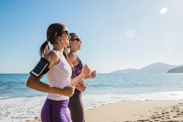 Fit and young women training