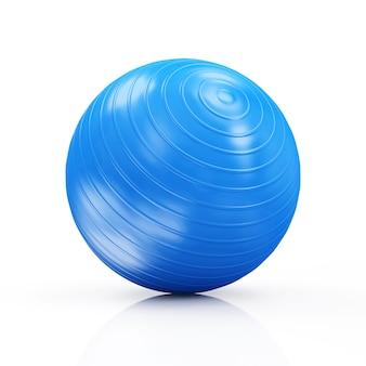 Фитнес-мяч на белом фоне