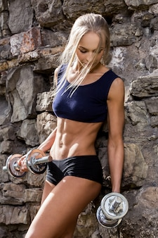 Fitness. beautiful woman with sexy body