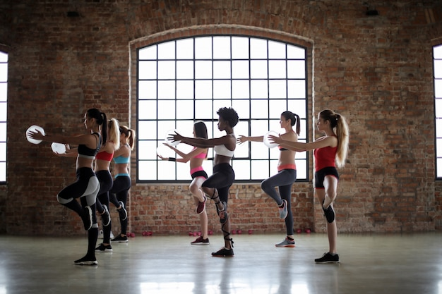 Fitness class for women