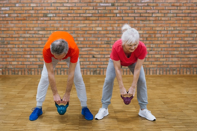 Fitness concept with elderly people