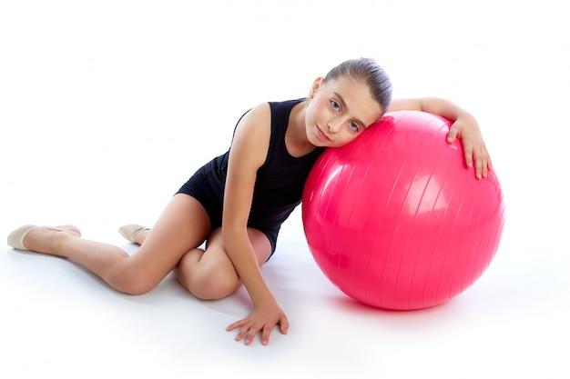 フィットネスフィットボールスイスボール子供女の子エクササイズワークアウト