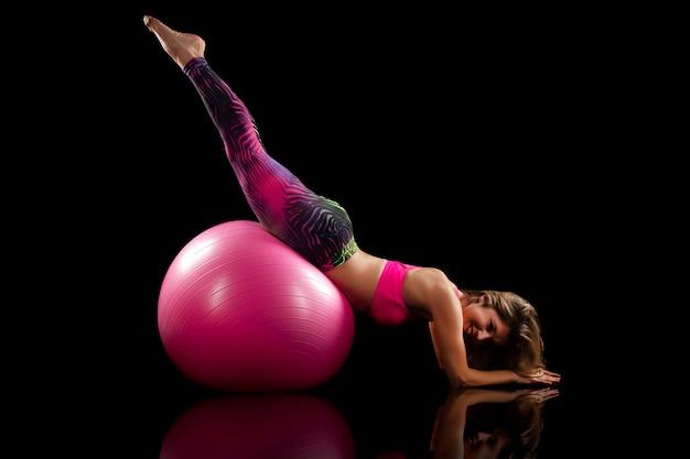 Fitness girl exercise