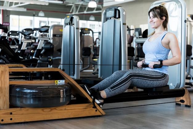Fitness girl making exercise
