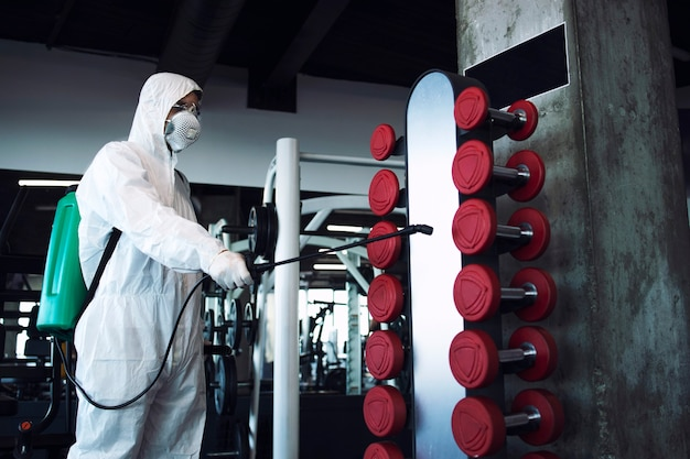 피트니스 체육관 소독 및 건강 관리