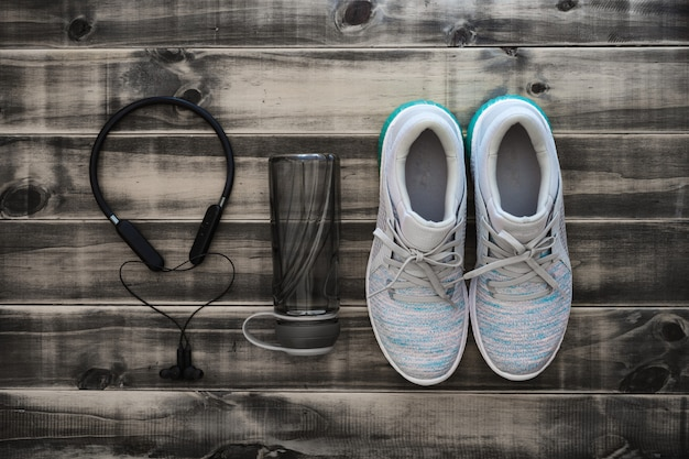 Fitness and healthy active lifestyle background concept.
