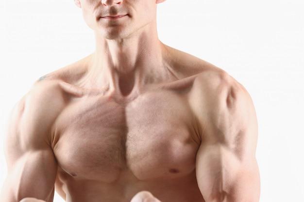 Fitness man background shoulder biceps