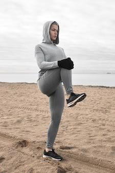 Concetto di fitness, sport, attività, vitalità e benessere. adatta a