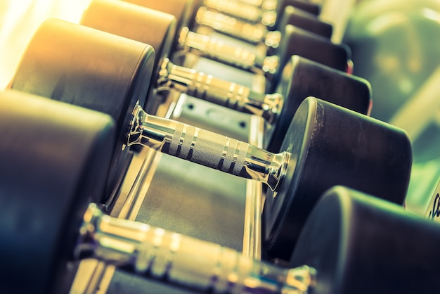Fitness sports barbell exercise background