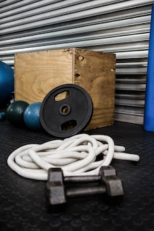 Fitness tools at the crossfit gym