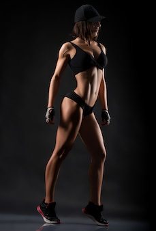 Fitness woman studio shots