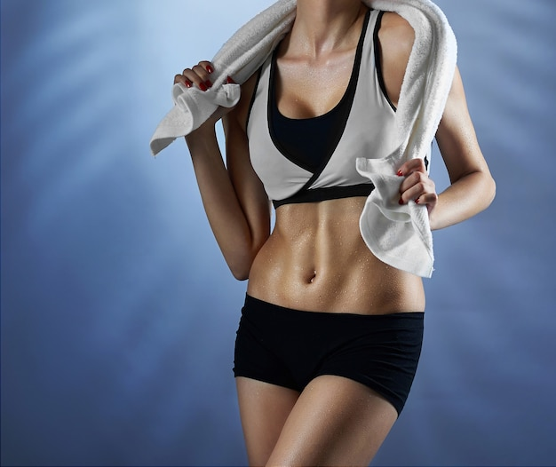 Fitness woman at studio
