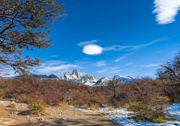 Fitz roy mount in los glaciares national park, el chalten,patagonia, argentina