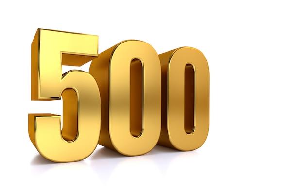 Пятьсот, 3d золотое число 500