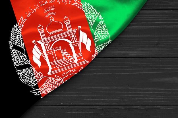 Flag of afghanistan copy space