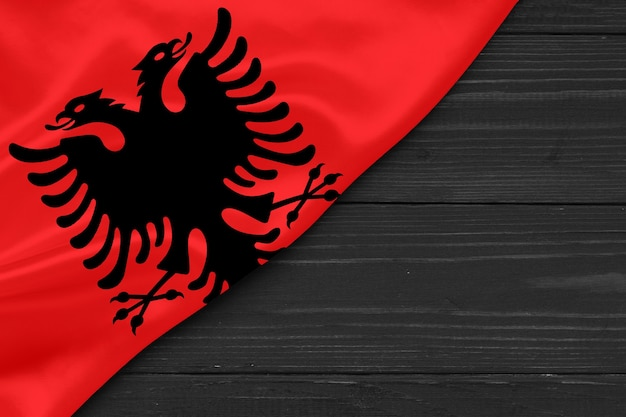 Flag of albania copy space