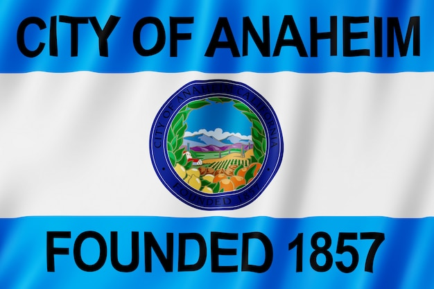 Flag of anaheim city, california (us)