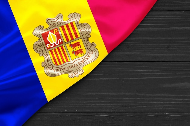 Flag of andorra place for text cope space