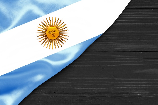 Flag of argentina copy space