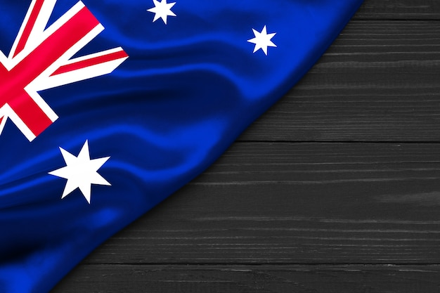 Flag of australia copy space