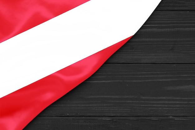 Flag of austria copy space